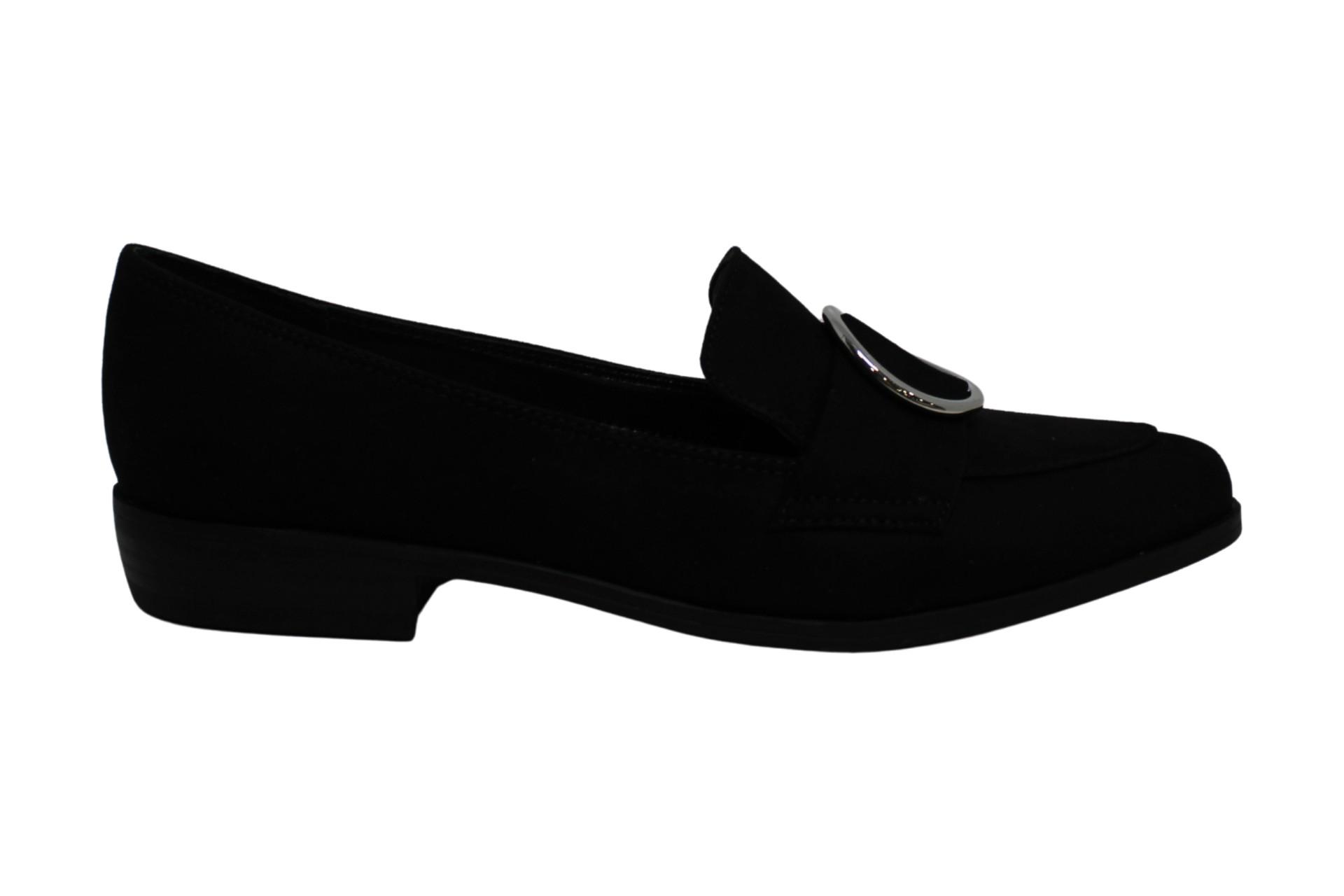 Bar III Womens Involve5 Fabric Pointed Toe Loafers, Black MC, Size 7.0 US / 5 UK
