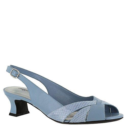 Easy Street Womens ariel Open Toe SlingBack Classic Pumps Blue Size 6.0