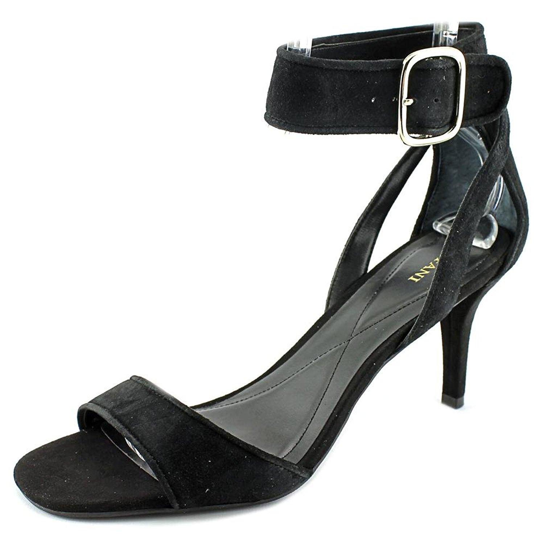 Alfani Womens Casedy Suede Open Toe Ankle Strap Dorsay Pumps Black Size 7.0 0