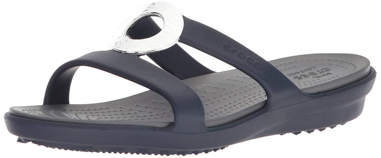 914c66b3c35 Crocs Women s Sanrah Hammered Metallic Sandal