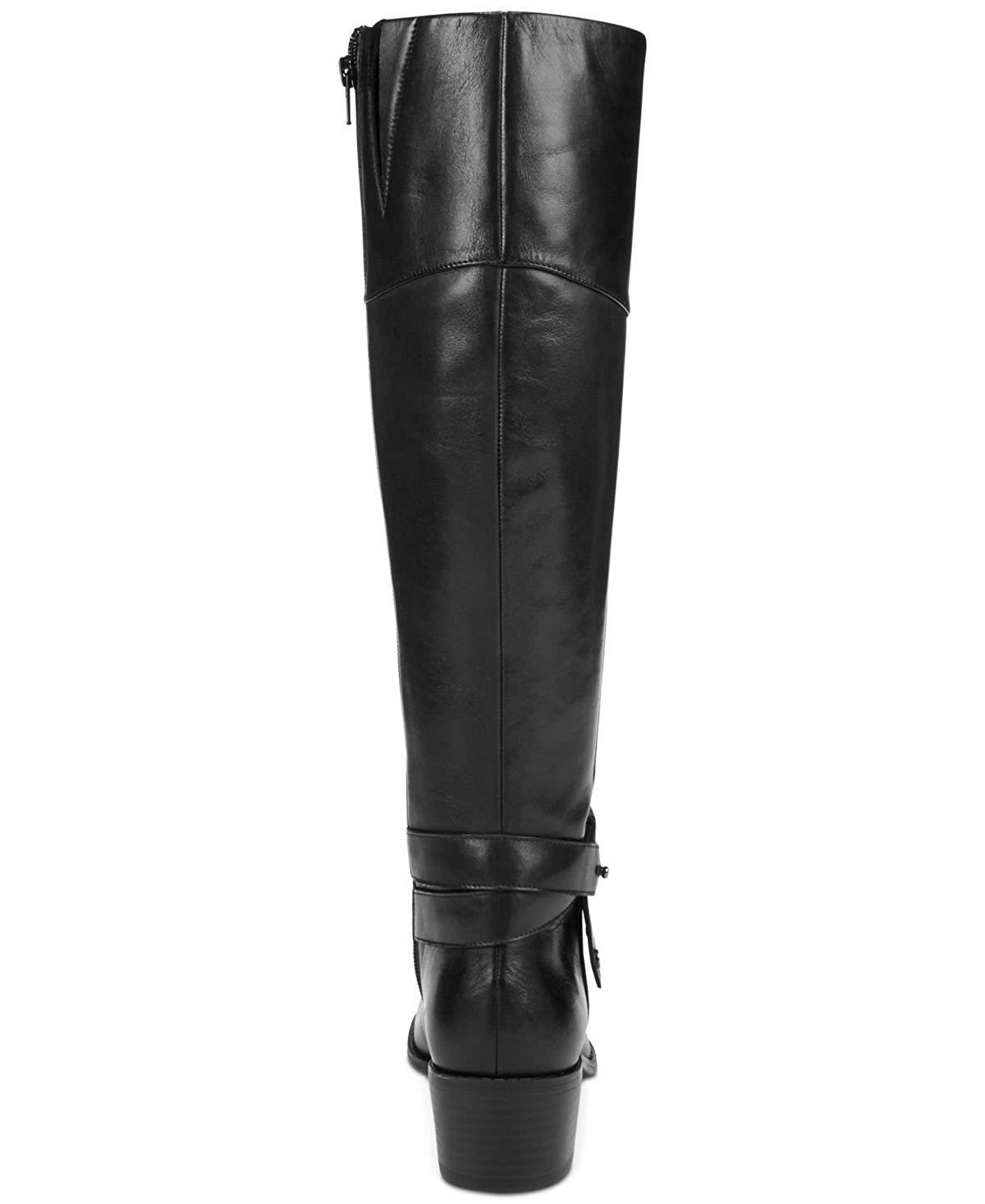 31d9c9a2468d Alfani Womens Berniee Wide Calf Leather Round Toe Knee High
