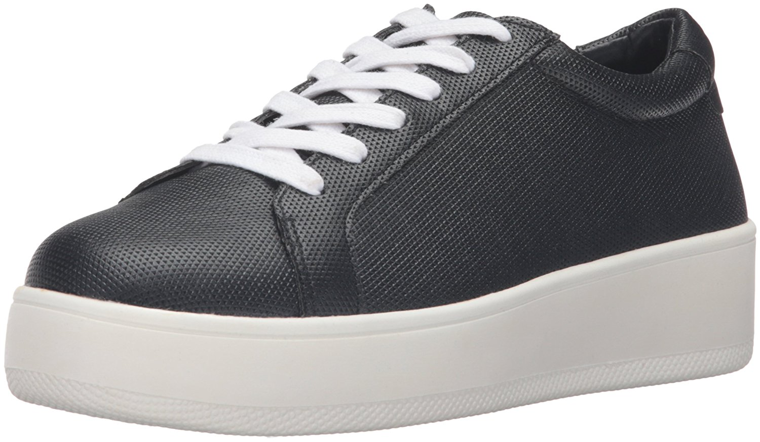 STEVEN by Steve Madden Womens Haris Low Top Lace Up Fashion Black Size 9.5 TCf