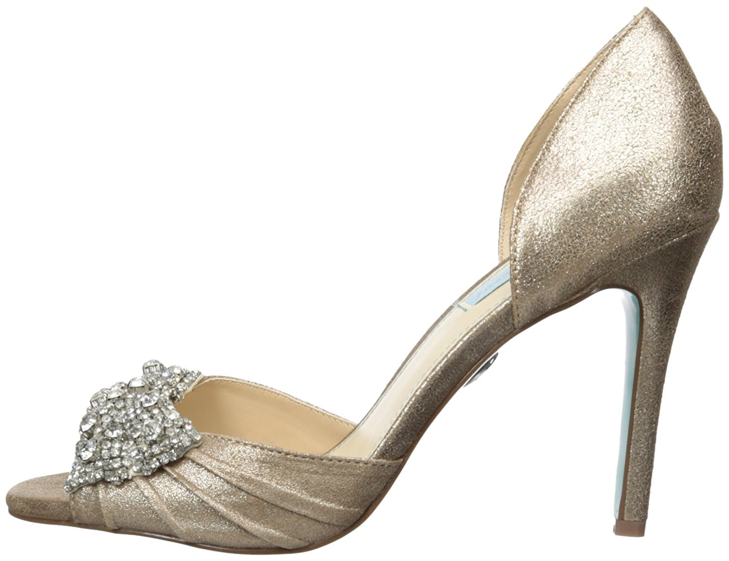 Betsey Johnson Womens SB gown Open Toe D-orsay Pumps, Sil Metal ...