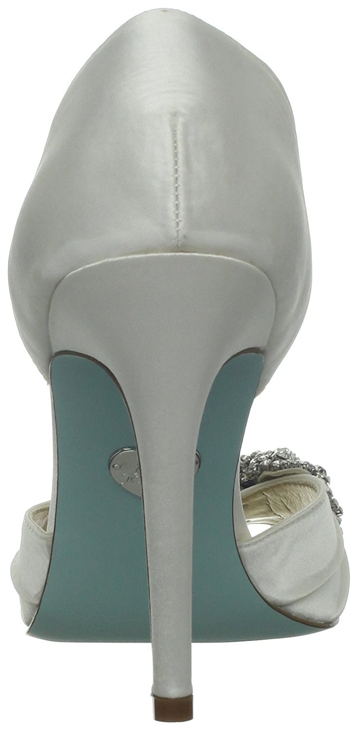 Betsey Johnson Womens SB gown Open Toe D-orsay Pumps, Ivory Satin ...