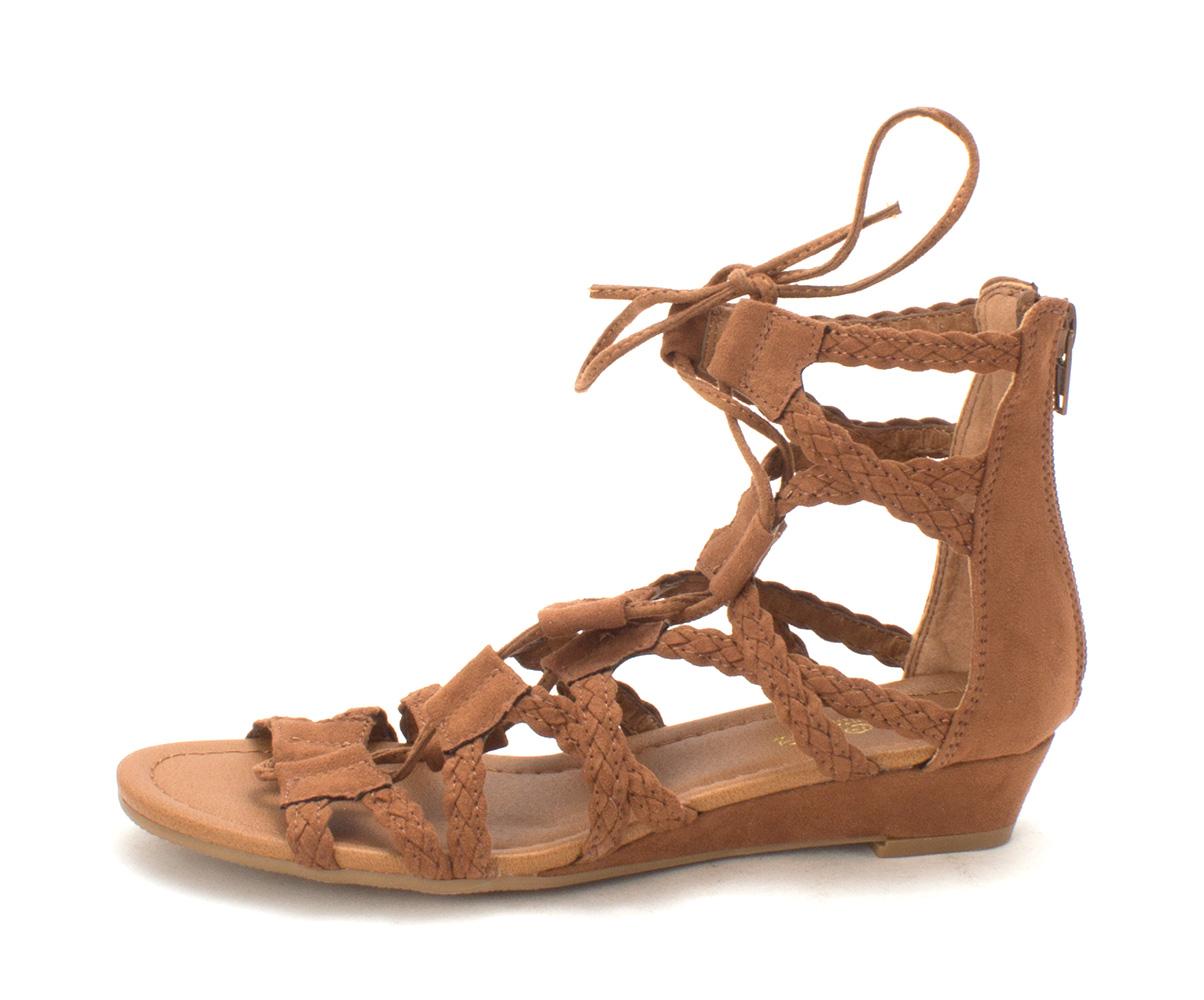 Crown Vintage Womens sarah 2 Open Toe Casual Platform Sandals havana Size 60