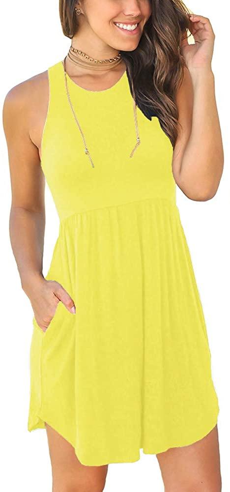 LONGYUAN Womens Summer Casual T Shirt Dresses Midi Beach