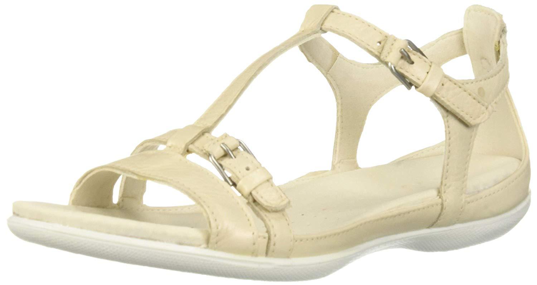 3fbe0c54 Details about Ecco Footwear Womens Women's Flash T-Strap Gladiator, Vanilla  Metallic, Size 9.0