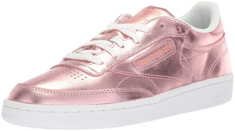 86a222f2573ae Reebok Women s Club C 85 S Shine Sneaker