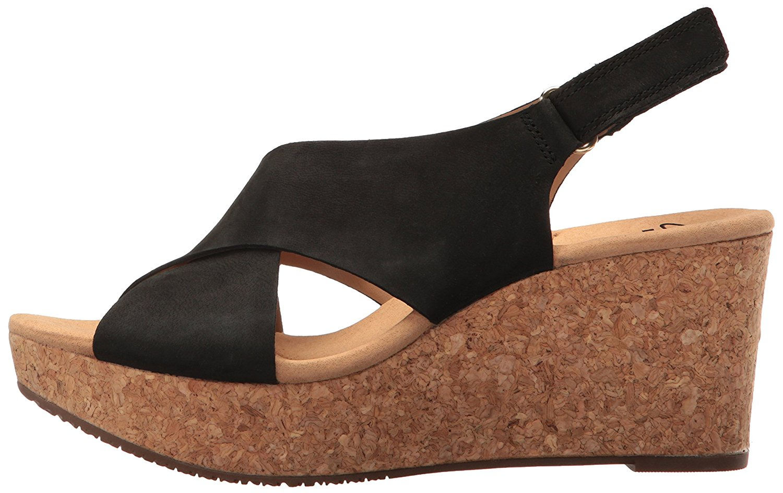 8e3c8e22e800 Clarks Annadel Eirwyn Womens Platform Sandals Black Nubuck 8.5 US   6.5 UK  DF