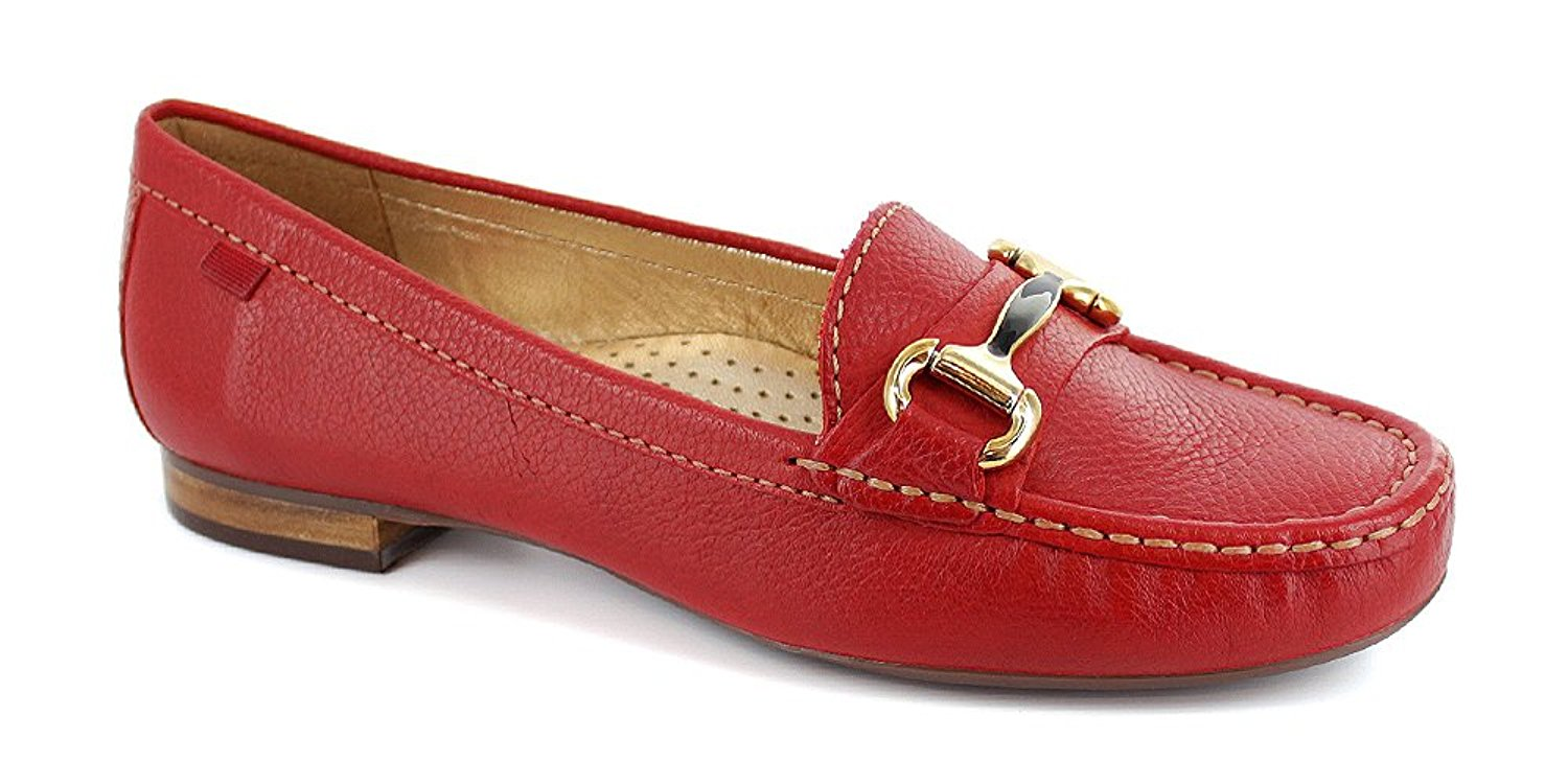 5ddfbd27a47 Marc Joseph New York Grand st. Womens Loafers   SlipOns Red Grainy 6.5 US    4.5