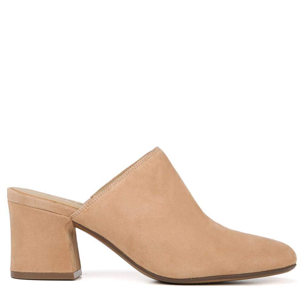 Daria In Leather: Naturalizer Womens Daria Leather Closed Toe Mules, Cookie