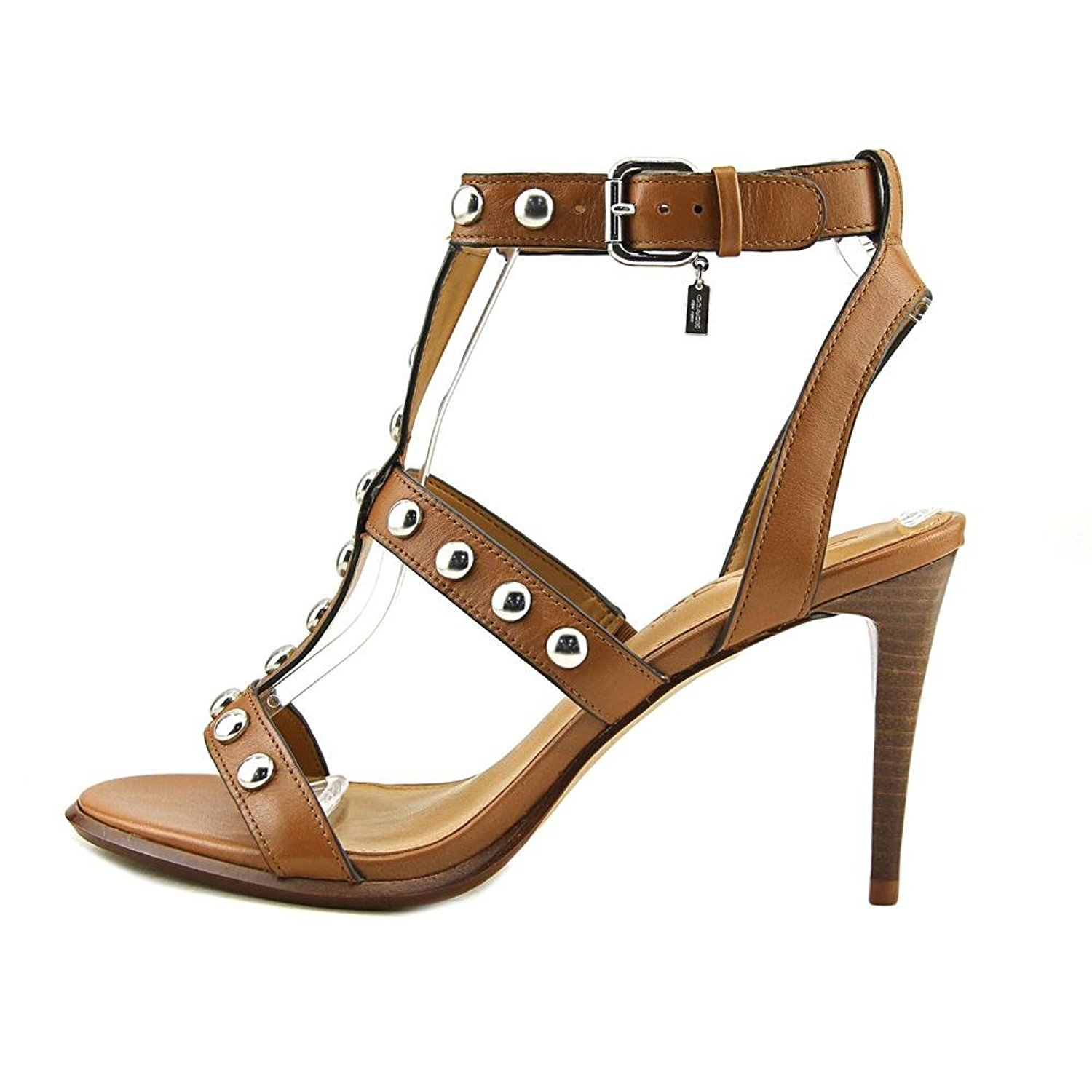 552e90077de2 Coach Womens Isabell II Leather Open Toe Casual Strappy Sandals