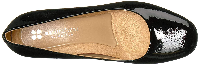 Naturalizer-Femme-Whitney-cuir-bout-ferme-Classic-Pumps-Noir-Taille-9-0-US miniature 9