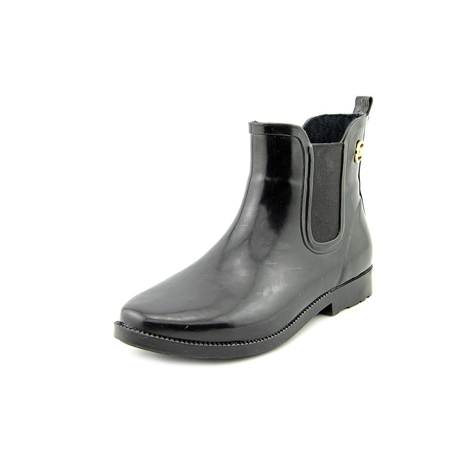 Michael Kors Womens CHARM RIDING Closed Toe Mid-Calf Rainboots, Blk, Size 9.0 tx