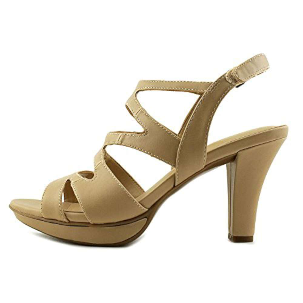 Naturalizer Womens Dianna Open Toe Casual Strappy Smooth Taupe Size 75