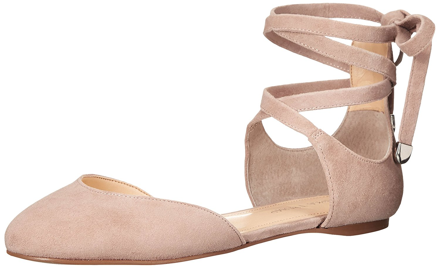Ivanka Trump Womens Elise Leather Closed Toe Ankle Wrap Light Natural Size 6.5