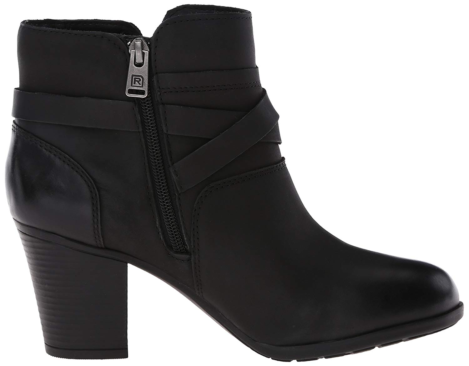 Details about Rockport Women's City Casuals Catriona Buckle Boot, Black Nubuck, Size 6.0 WaNg