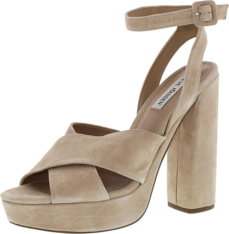 fa63b61f7b0fc Steve Madden Womens Jodi Open Toe Ankle Strap Classic Pumps | eBay