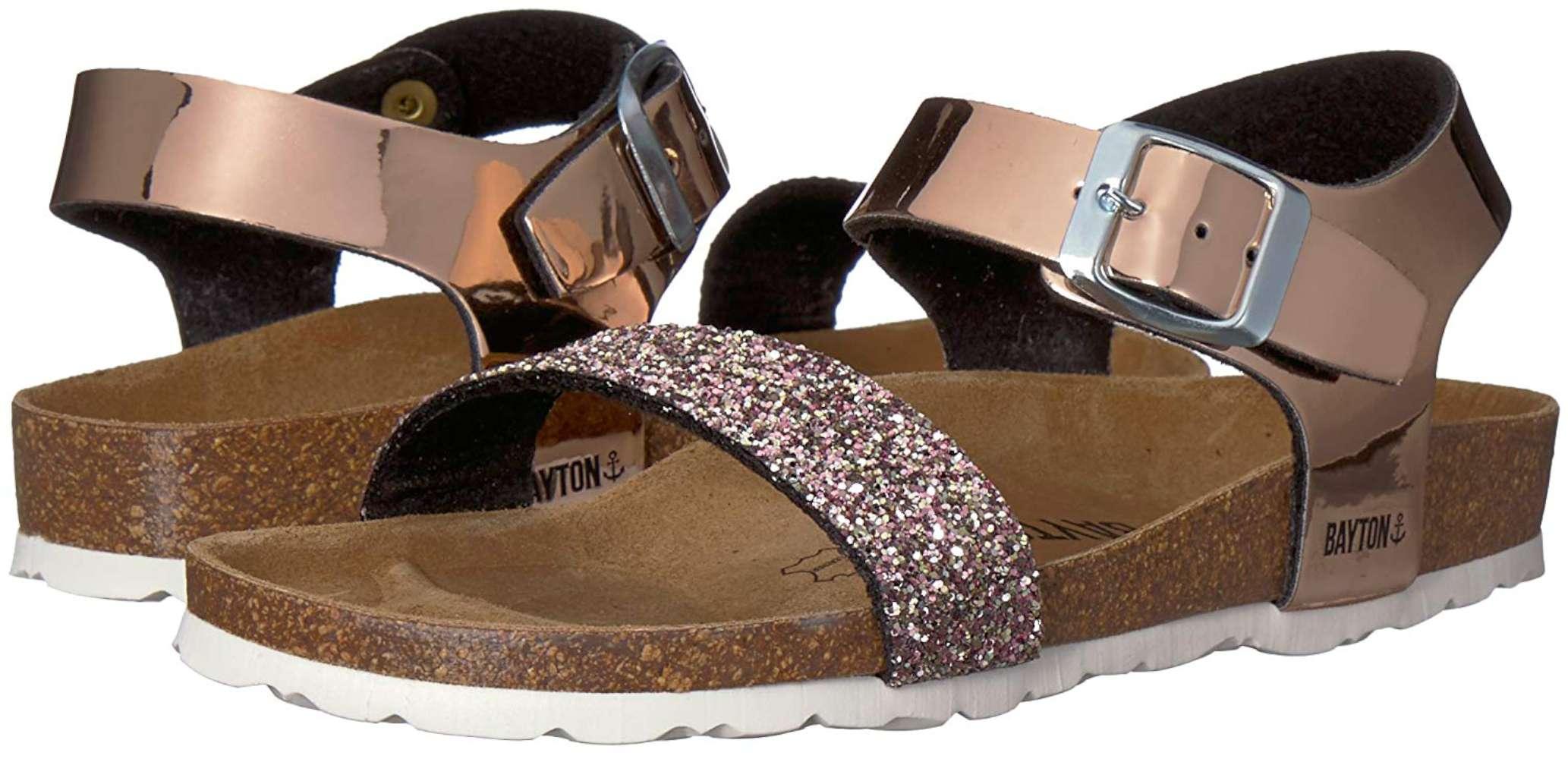 f9977d28940 Kids Bayton Girls Tyche Buckle SlingBack Slide Sandals