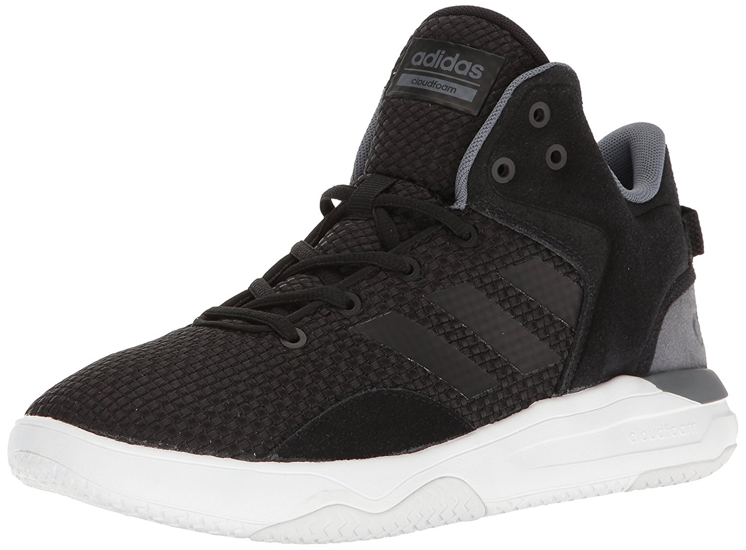 5141b4f0a2 adidas Men s Cloudfoam Revival Mid Basketball Shoes, Black Onix White, Size  10.5