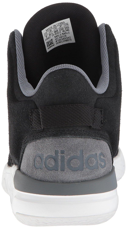 adidas uomini cloudfoam revival a metà scarpe da basket, black / onix