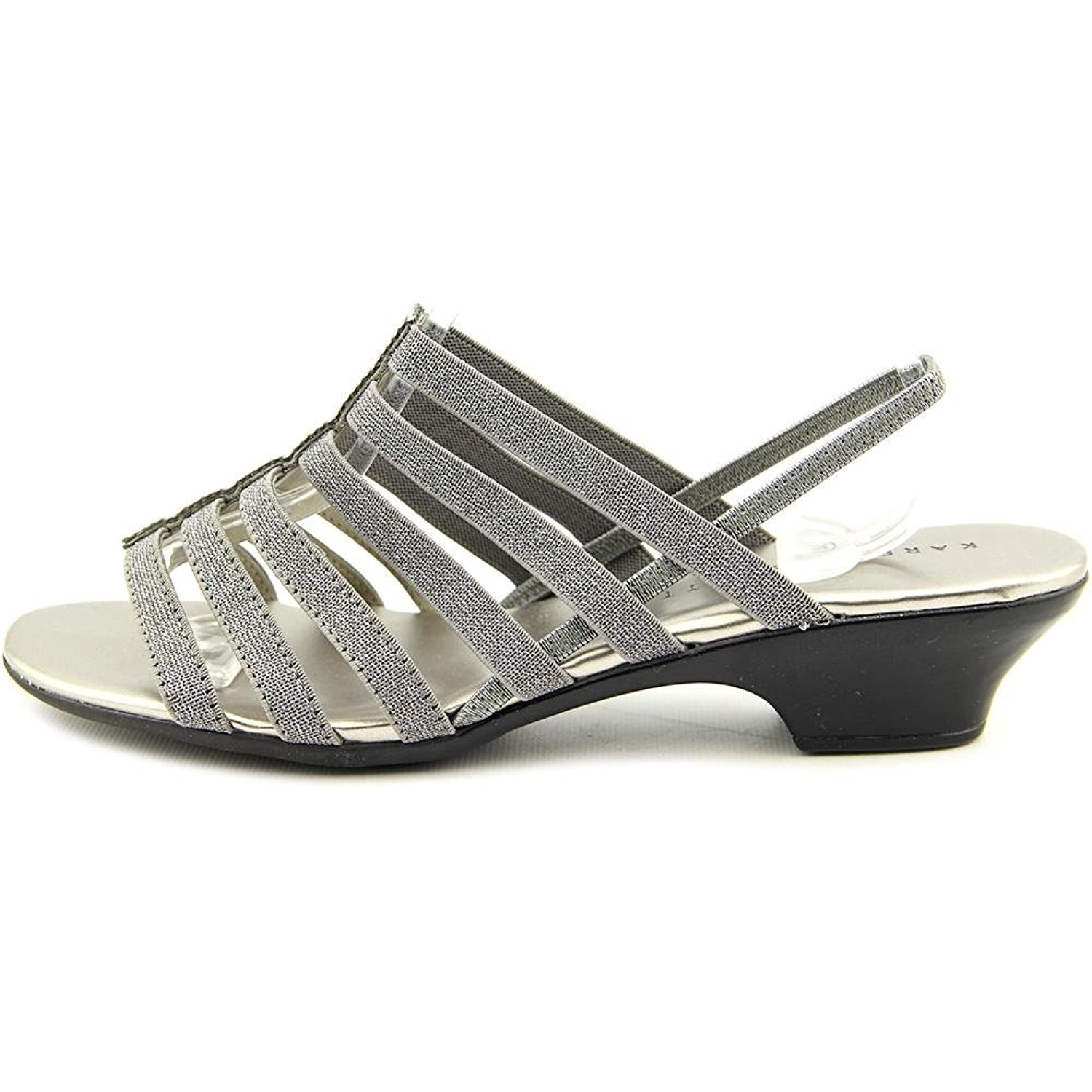 Karen 60 Scott Donna ESTEVEE Open Toe Casual Pewter Size 60 Karen 760628