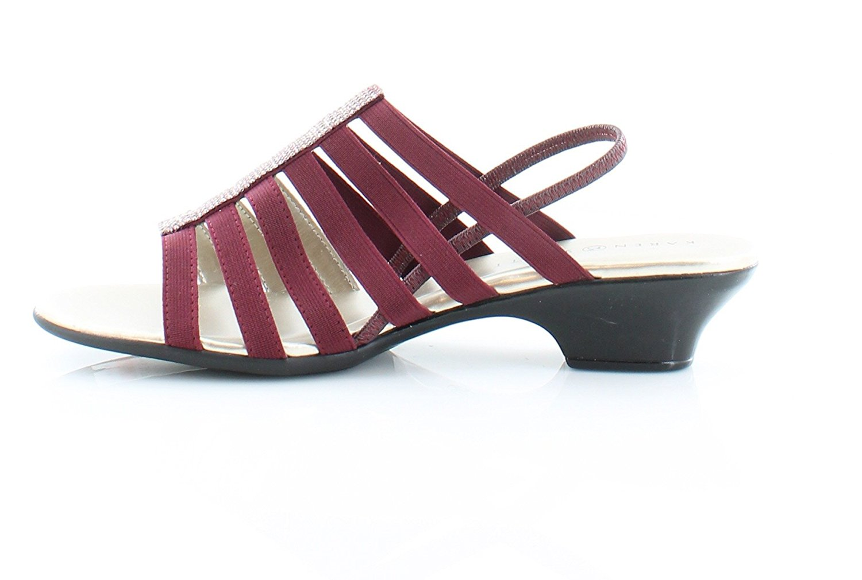 Karen Scott Womens Estevee Open Toe Casual Strappy Sandals Red Size 95