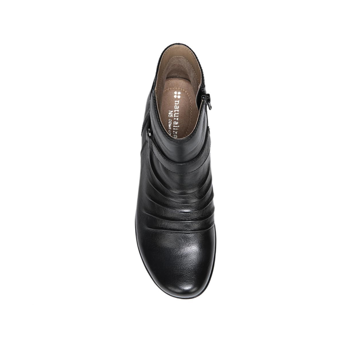 Naturalizer Damenschuhe CASSINI Round Ankle Toe Ankle Round Fashion, schwarz LEATHER ... efeaa5