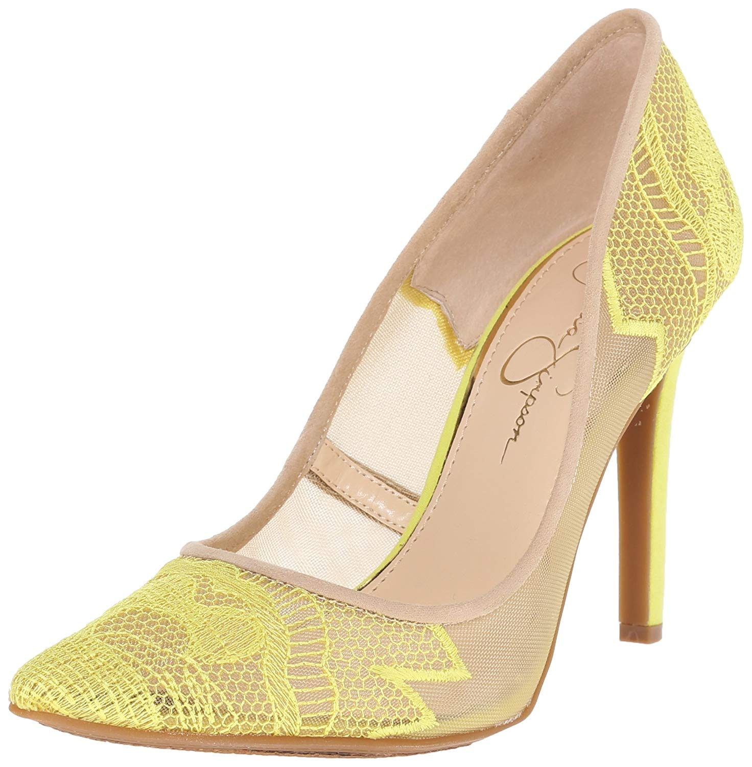 884e6efed4 Jessica Simpson Womens Camba Pointed Toe Classic Pumps, Sheer Yellow ...