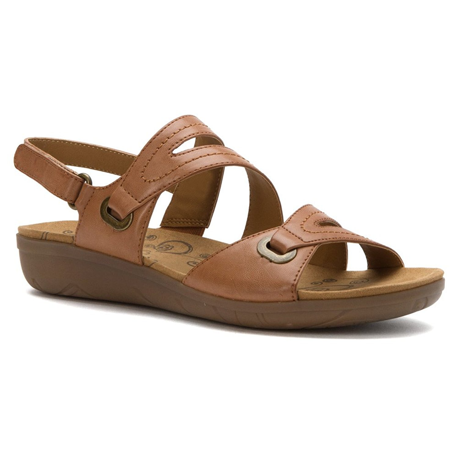 Bare Traps Womens Jevin Open Toe Casual Sport Sandals Auburn Size 110