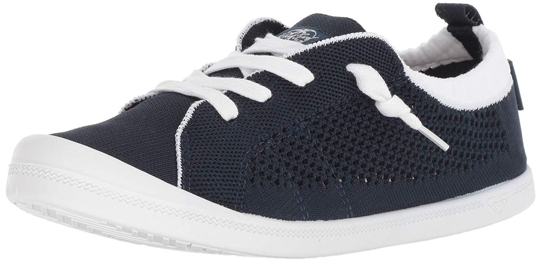 ad83a736710ff Details about Roxy Women's Bayshore Knit Slip on Fashion Sneaker, Navy,  Size 5.0 WyBQ