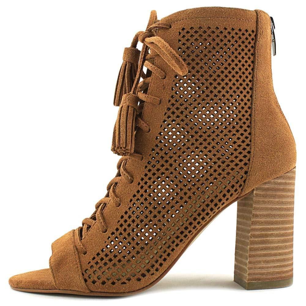 86464dfc13682 ... Marc Fisher Femme shaini shaini Femme Cuir Bout Ouvert Cheville Bottes  Mode a50c16 ...