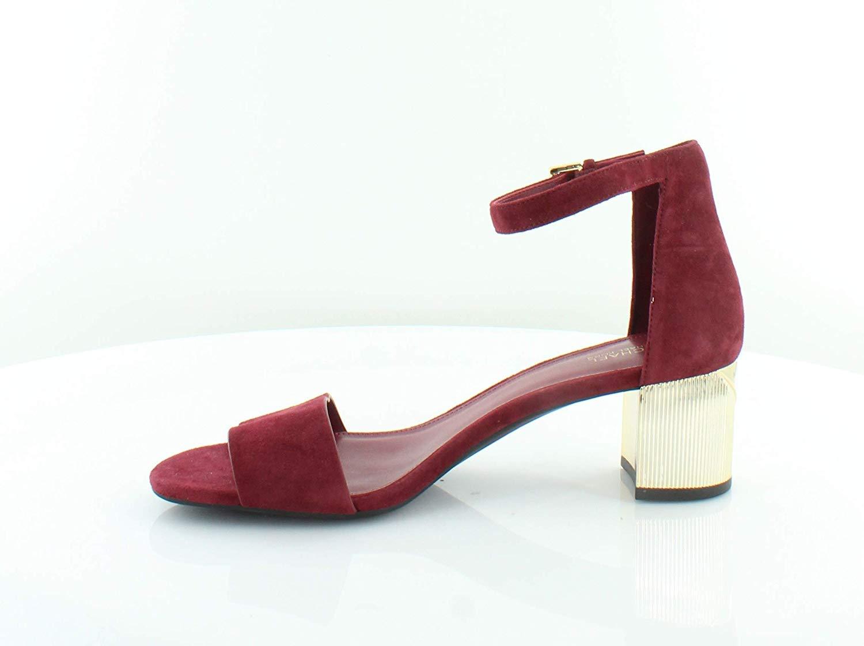 e8797bc96f Michael Michael Kors Womens Paloma Flex Leather Open Toe, Mulberry, Size 6.5