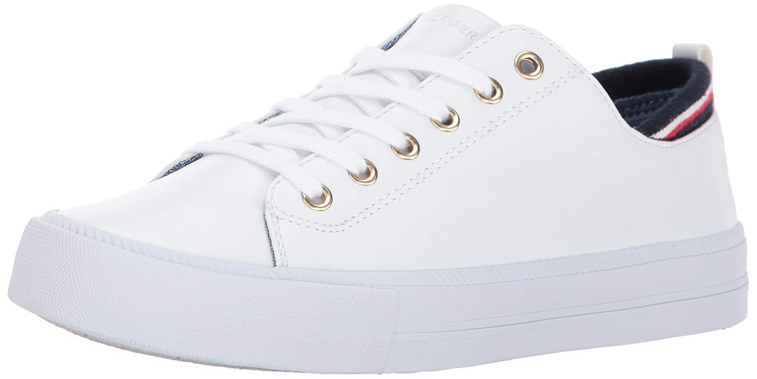 6f358990 Tommy Hilfiger Womens Two Low Top Lace Up Fashion Sneakers, White, Size 9.5  a74P