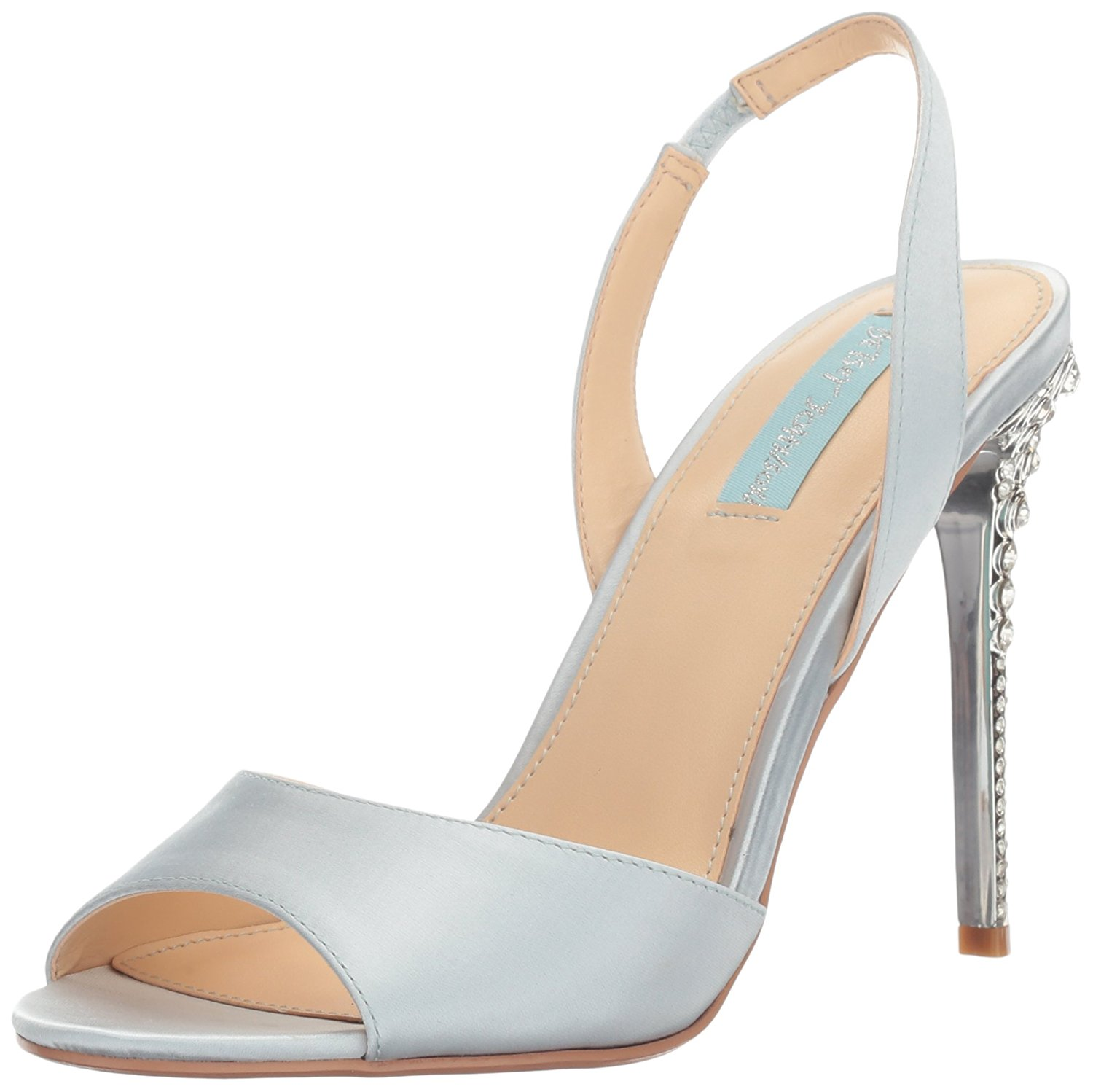 Betsey Johnson Womens SBNaomi Open Toe Special Occasion Light Blue Size 90