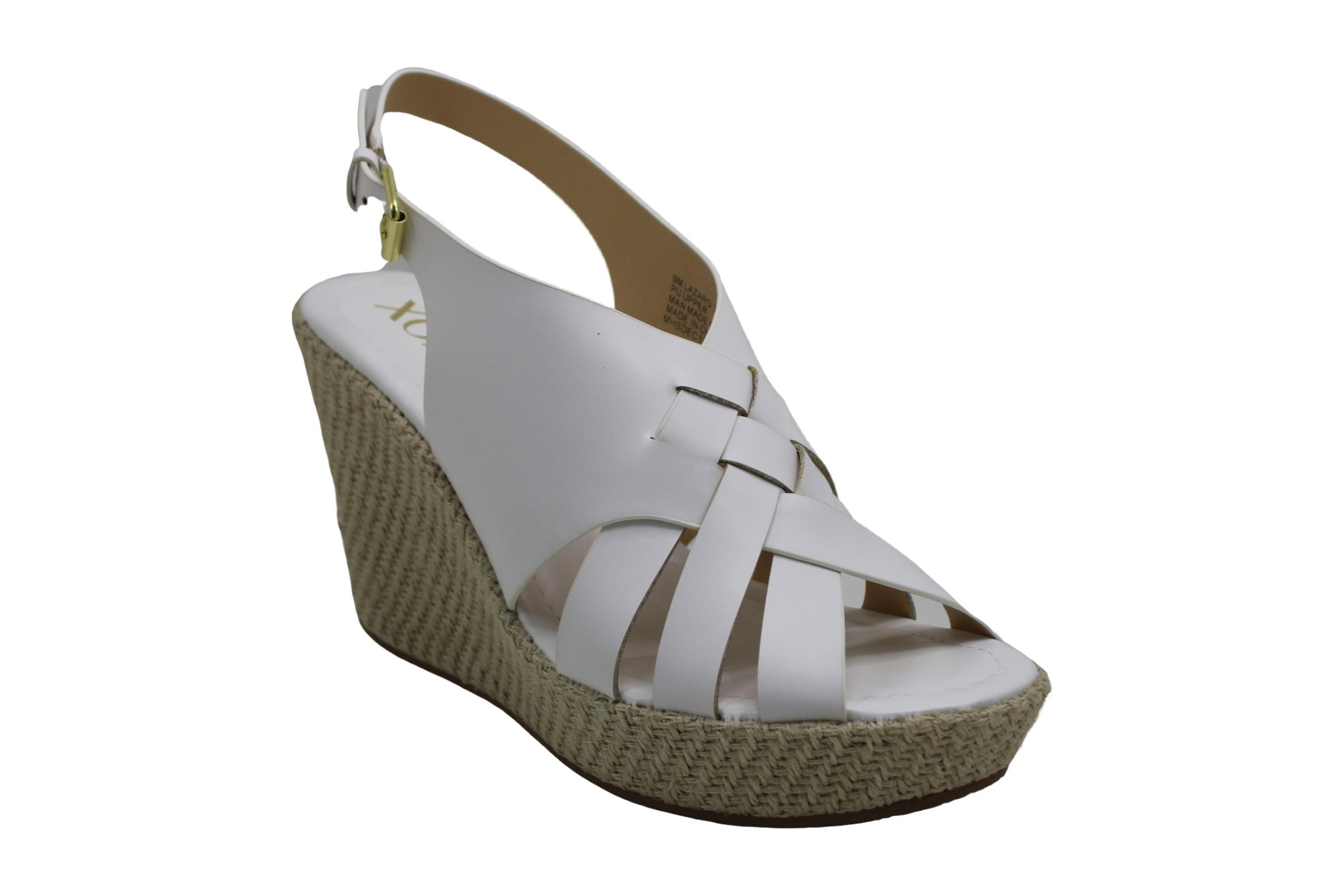 Xoxo-Womens-Lazaro-Fabric-Open-Toe-Casual-Ankle-Strap-Sandals thumbnail 2