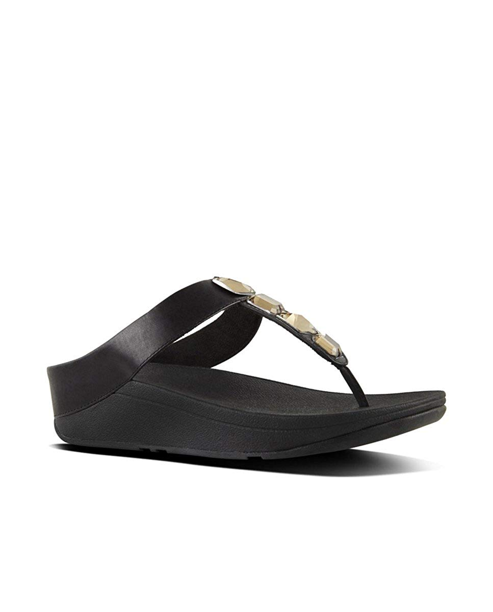 c92e11530d2f FitFlop Women s Roka Toe-Thong Sandals-Leather Flip-Flop