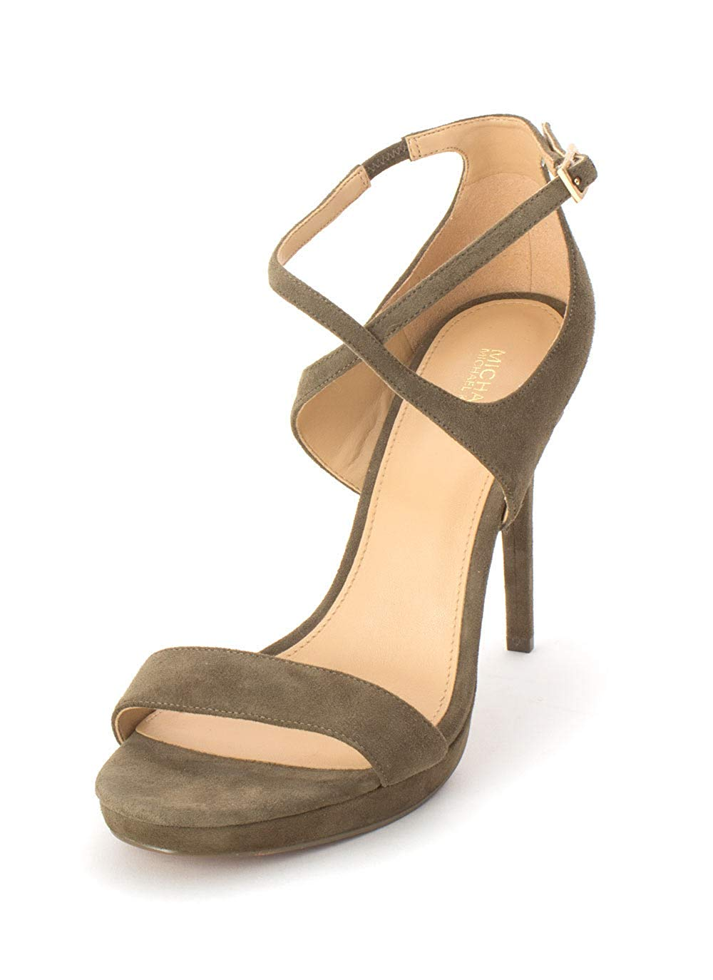 d6efd71d1f6f Details about Michael Michael Kors Womens Faryn Leather Open Toe Casual Strappy  Sandals