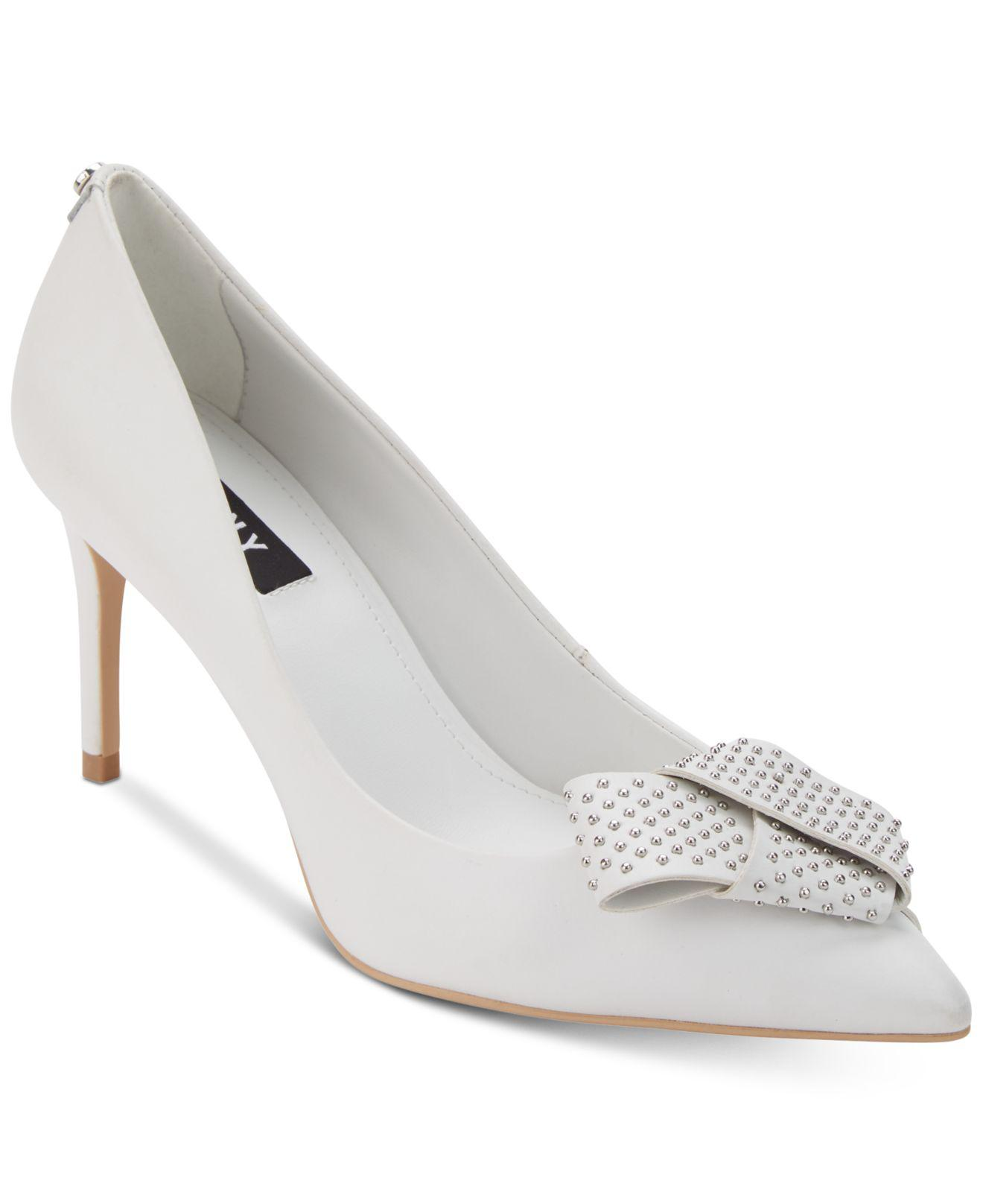 DKNY Womens Livia Leather Pointed Toe Classic Pumps