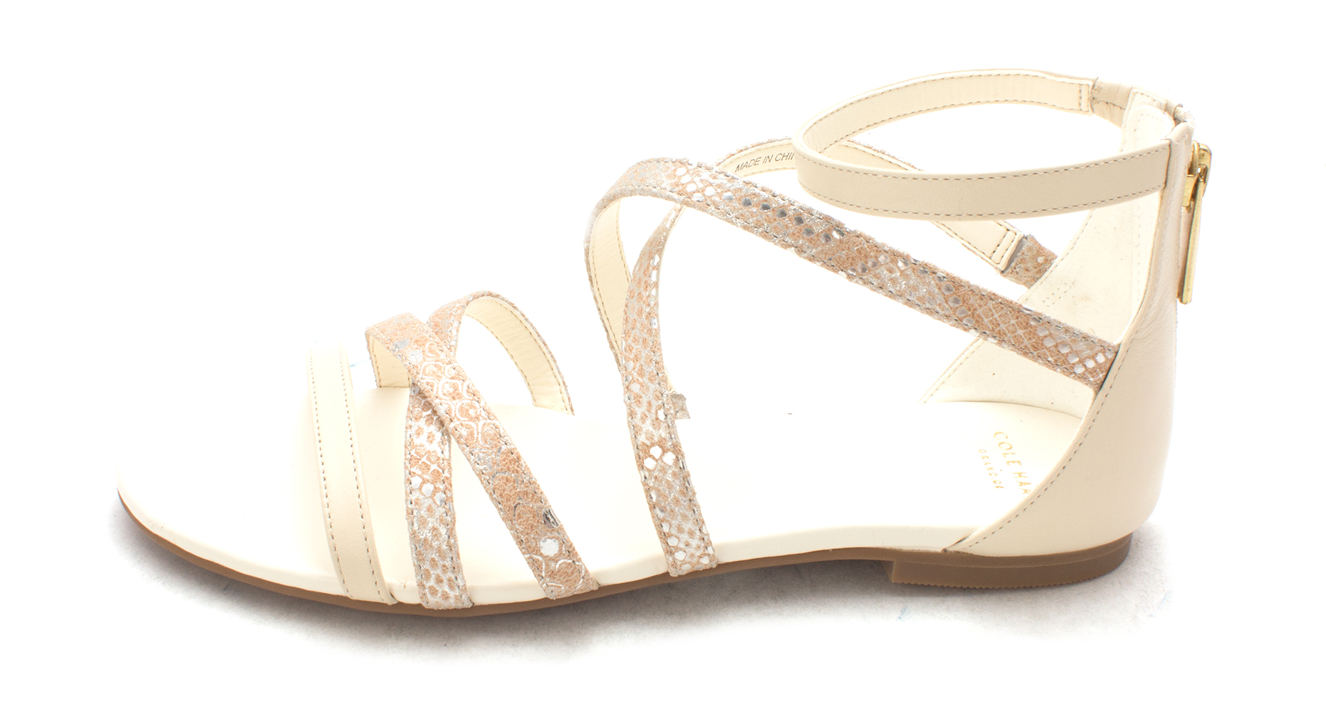 Cole Haan Womens Lilsam Open Toe Casual Strappy Sandals Beige Size 60