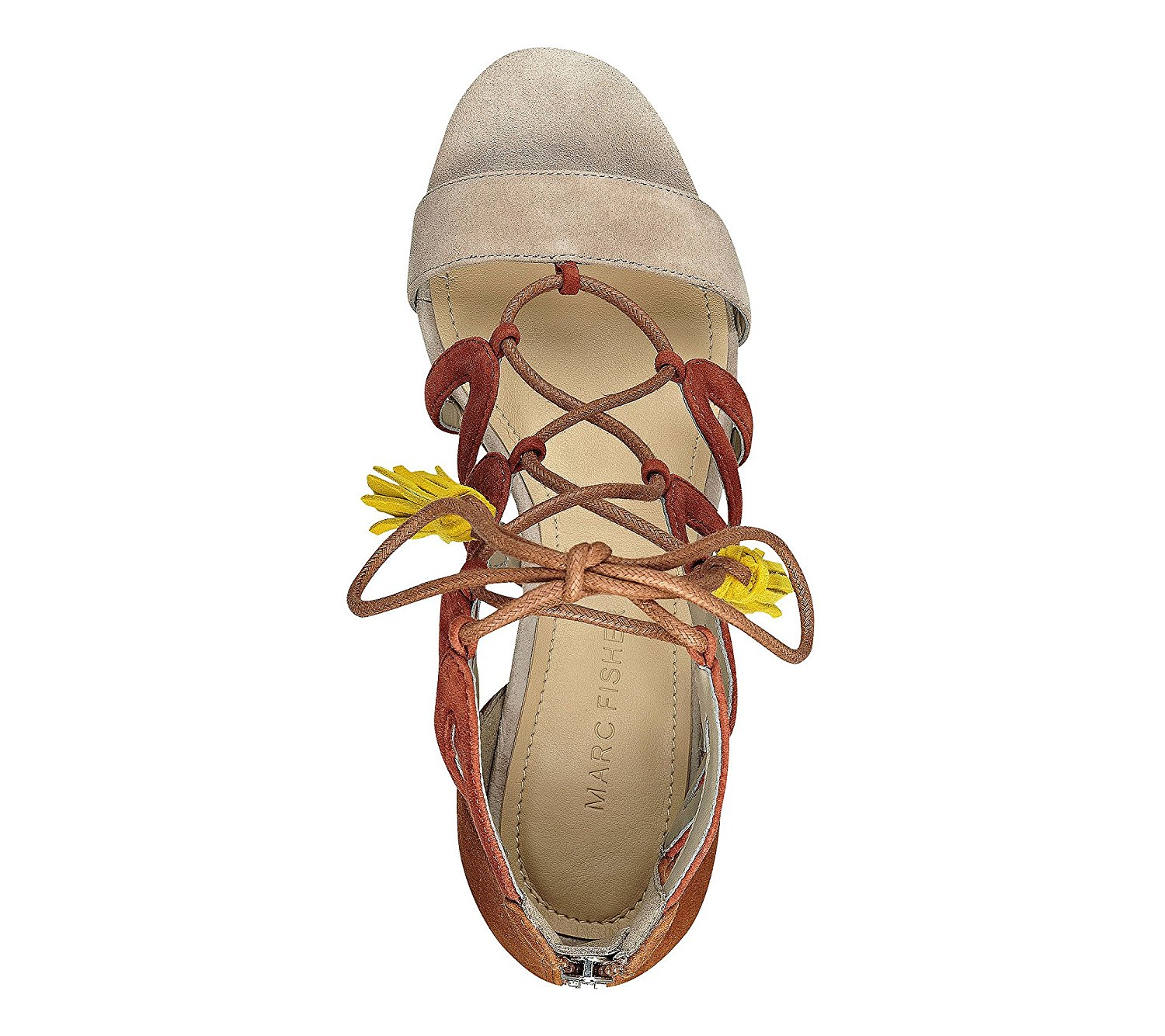 b7502c9841ad Marc Fisher Womens Rayz Suede Almond Toe Casual Strappy Sandals