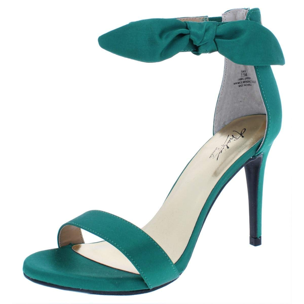 Thalia Sodi Womens Raee Satin Heels Evening Sandals, Emerald Satin, Size 6.0