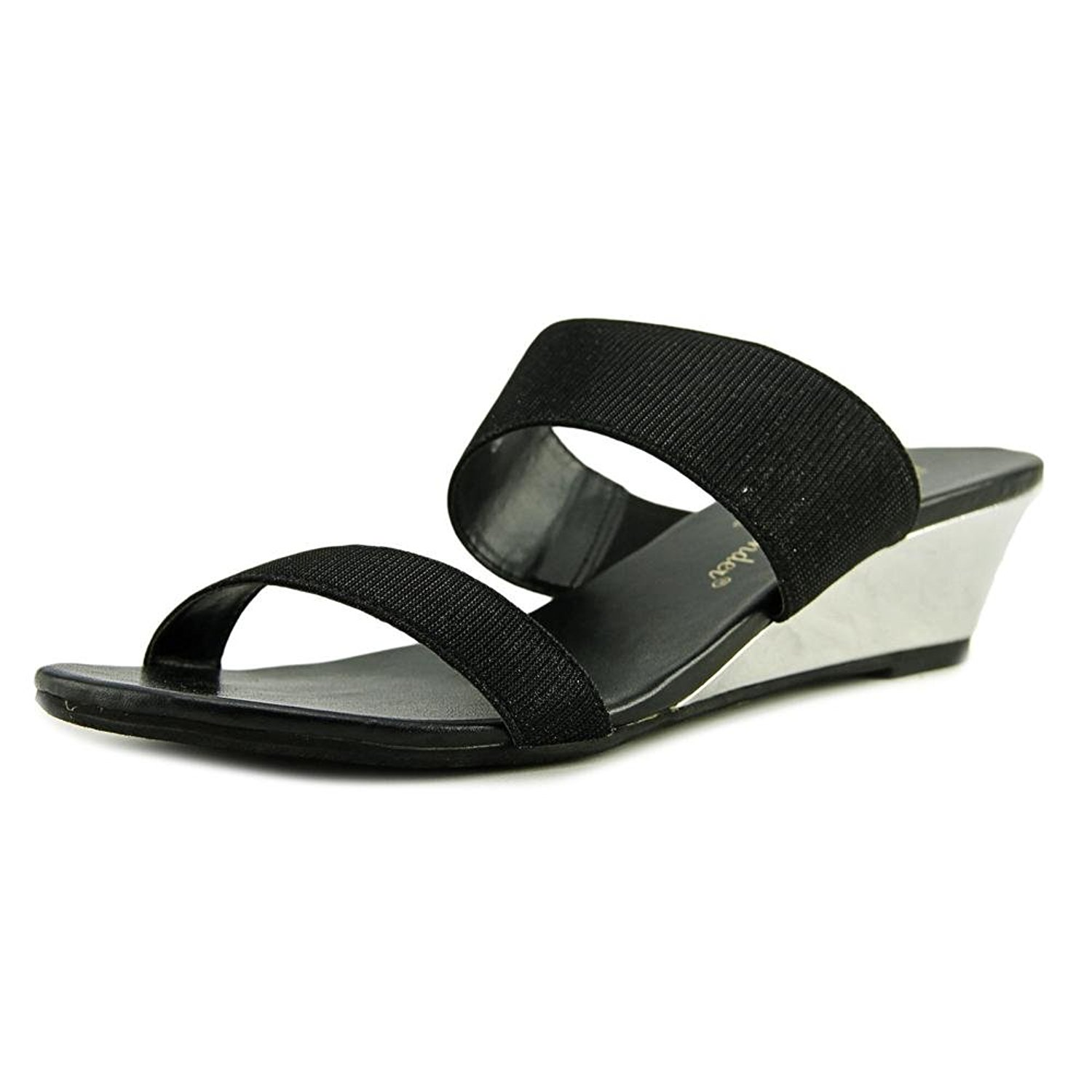 best loved 65e03 4df6a Athena Alexander Spend It Open Toe Synthetic Wedge Sandal Black Size 95