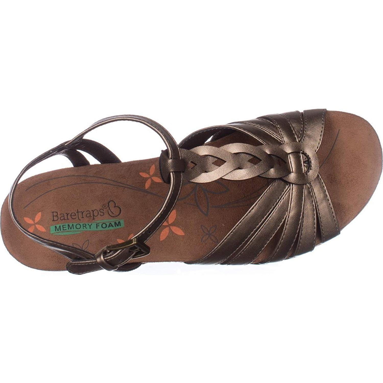 45f7163a976 Bare Traps Womens Honora Peep Toe Casual T-Strap Sandals
