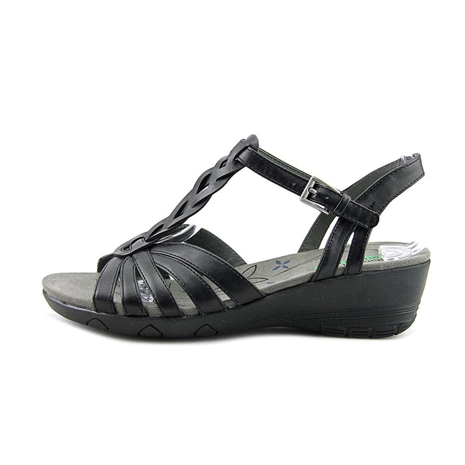 81b675267 Bare Traps Honora Memory Foam Wedge Sandals Black 8 UK