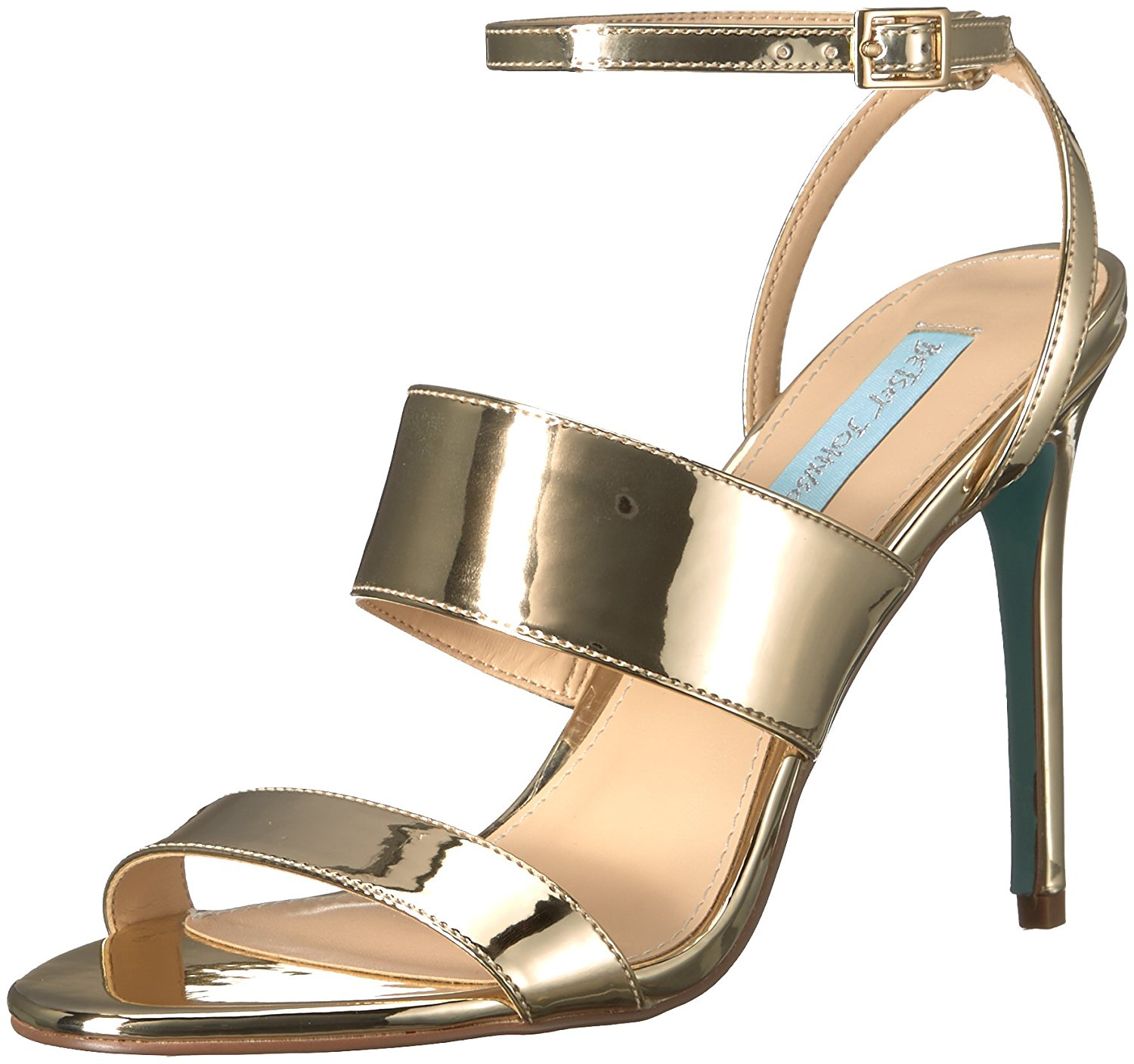 Betsey Johnson Womens Jenna Open Toe Special Occasion Ankle Gold Foil Size 6.0