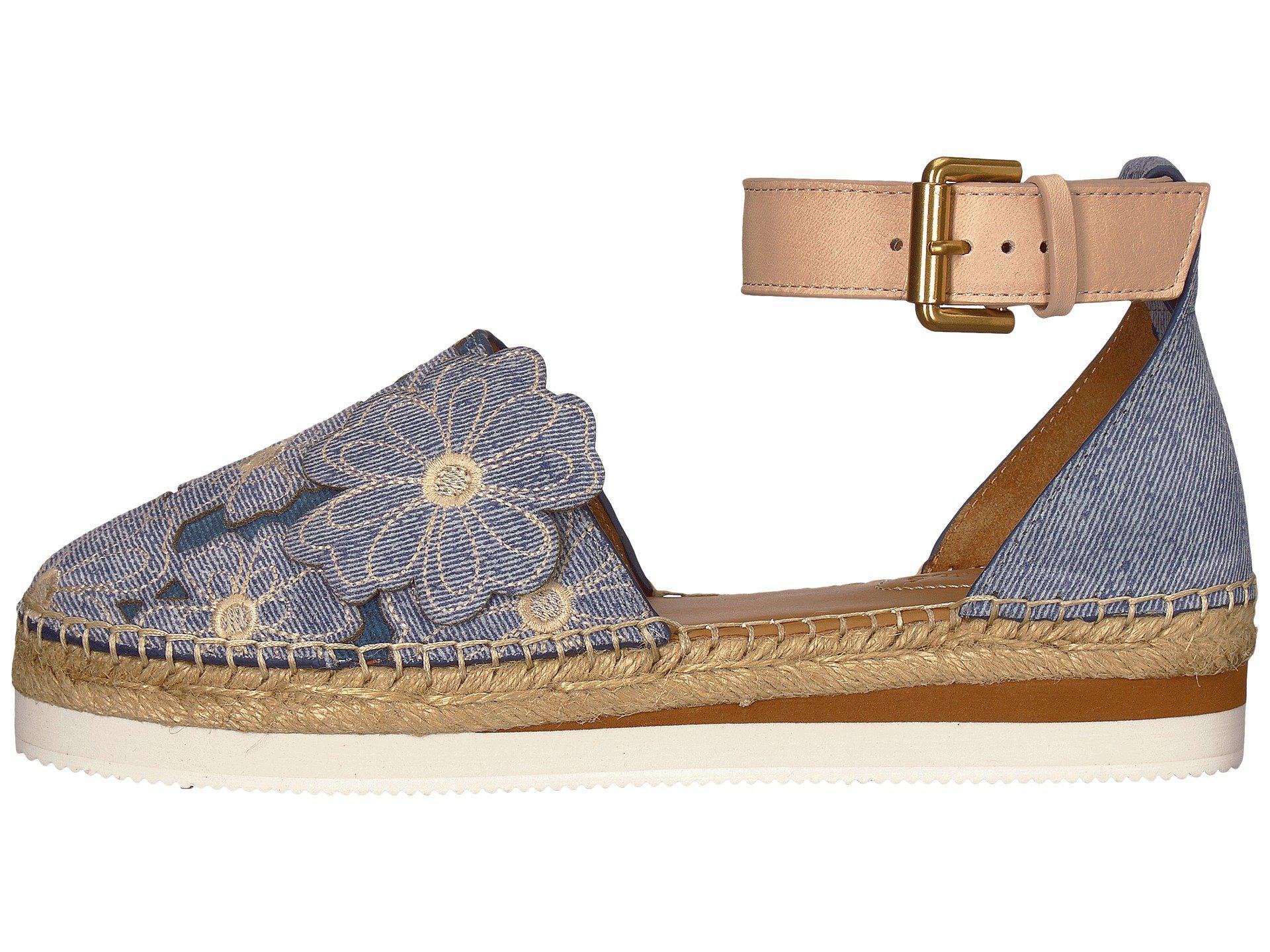 65720f2d3f55 See by Chloé SB30211 Womens Platform Sandals Blue Denim 5.5 US   3.5 ...