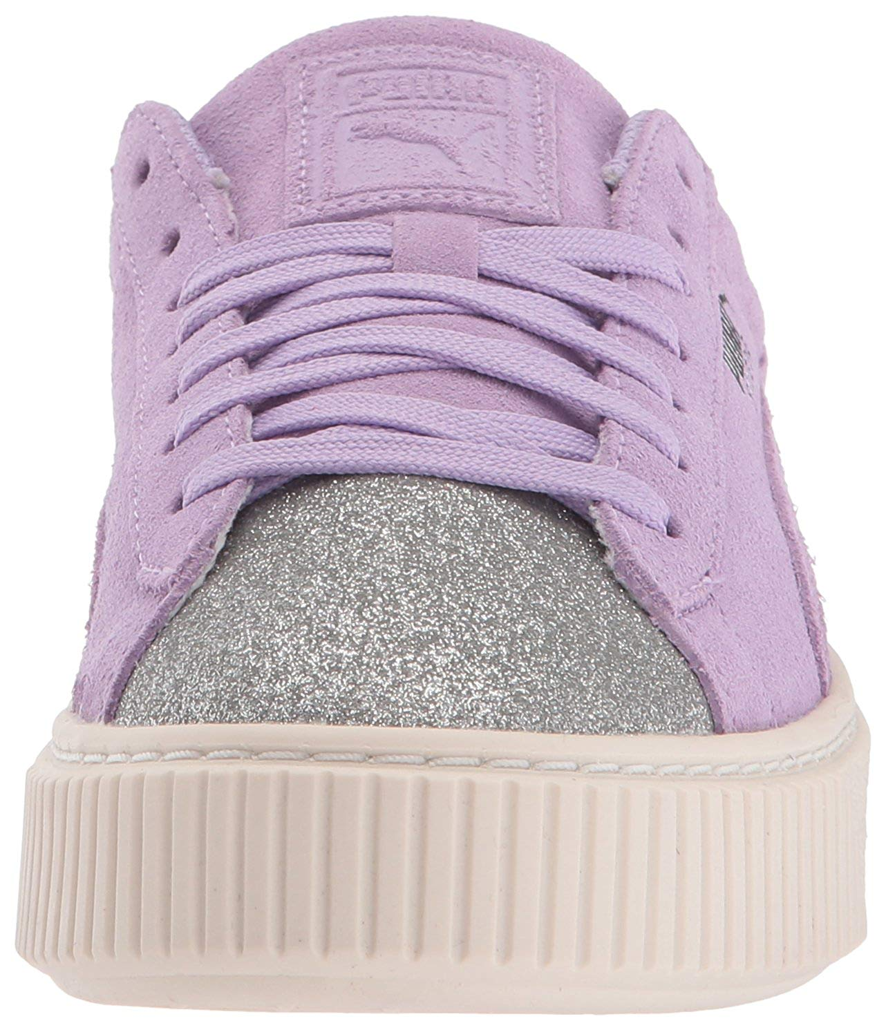 f22ad3bebb50fa Details about PUMA Girls suede platform glam Low Top Lace Up Walking Shoes