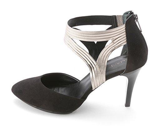 Alfani Women's Sennah ankle strap heels Black/Zinc Size 10.0