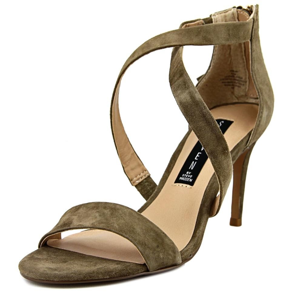 88db46637d8 Details about Steven by Steve Madden Nahlah Womens Heeled Sandals TAUPE  SUEDE 8 US   6 UK